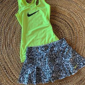 Nike pro Dri fit top with Nike dri-fit  skirt